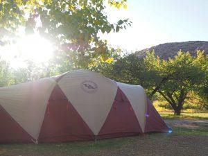キャンプにも少しだけ手作りグッズを持っていく。