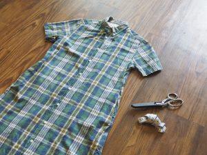 着なくなったシャツを子供のためにリメイク