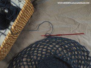 リネン糸で編むネットバッグに挑戦
